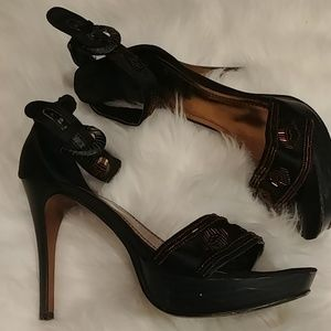 Anne Michelle Size 6.5 Copper Beaded Heels
